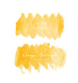 orange brush stroke watercolor vector image vector image