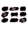 paint ink brush stroke marker highlighter spot vector image vector image