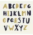 Paper Cut Alphabet Black and gold letters Easy vector image