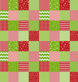 Pattern in patchwork style Merry Christmas vector image vector image