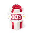 realistic detailed 3d present box open vector image