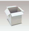 realistic white box on gray background vector image vector image