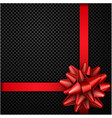 red bow with ribbon isolated on black vector image