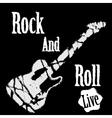 Rock guitar poster vector image vector image