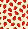 seamless pattern strawberries vector image