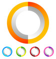 segmented circle generic abstract icon circular vector image vector image