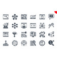 seo glyph related icons set on white background vector image vector image
