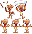 Set of cartoon dog on a white background vector image
