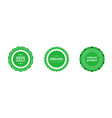 set organic 100 percent natural product badges vector image vector image