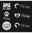 set vintage logo and logotype elements for pet vector image