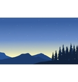 Silhouette of mountain from a far vector image vector image