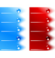 Site bars and buttons vector image vector image