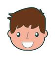 smiling handsome icon boy vector image vector image
