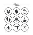 spa hairdressing icons swimming pool sign vector image