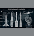 space set elements in hud style vector image vector image