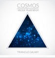 space triangle form with stars universe vector image vector image