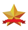 star emblem with banner icon image vector image vector image