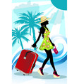 summer traveling woman vector image vector image