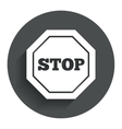 Traffic stop sign icon Caution symbol vector image