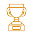 trophy cup design vector image