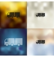 truck icon on blurred background vector image vector image