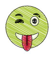 wink smile tongue out emoji icon image vector image