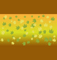 yellow green leaves on a yellow background vector image vector image