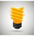 bulb eco design vector image