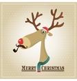 Reindeer Merry Christmas Card vector image