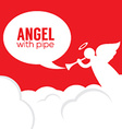 Angle With Pipe vector image