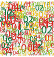 Seamless pattern made from colorful numbers vector image