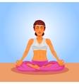 a girl yoga in the lotus vector image vector image