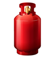 A red gas cylinder vector image