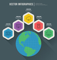 Abstract infographic flat design Workflow layout