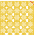 abstract seamless pattern with dot flower vector image