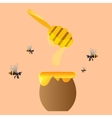 Apiary symbols Bee honey honeycomb vector image vector image
