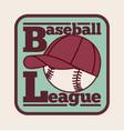 baseball league label badge icon vector image vector image