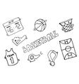 Basketball Elements vector image vector image