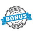 bonus stamp sign seal vector image vector image