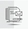 brand company identity letter presentation line vector image