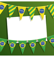 brazil party card vector image vector image