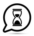bubble with hourglass icon vector image