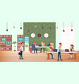 business meeting at creative office modern device vector image vector image