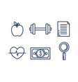 business set collection icons vector image vector image