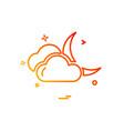clouds icon design vector image vector image