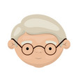 colorful face of grandfather with glasses and vector image vector image