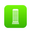 column icon digital green vector image