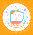 concept of a holiday in television vector image vector image