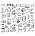 doodle business collection sketch marketing icons vector image vector image