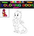 dragon coloring book vector image vector image